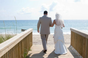 married couple in beach
