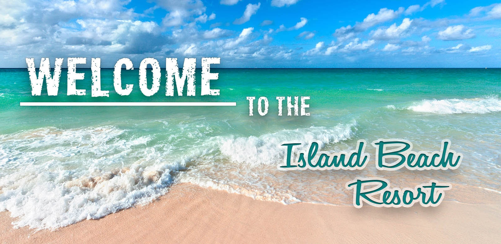 Welcome to the island beach resort