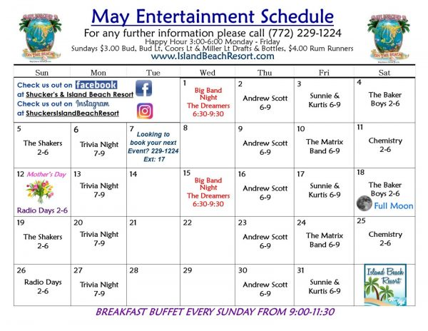May Entertainment Schedule
